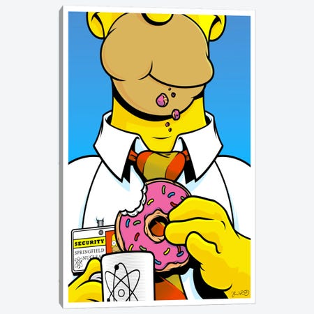 Homer Simpson Canvas Print #JBD77} by Joshua Budich Canvas Print