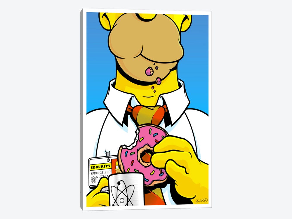 Homer Simpson by Joshua Budich 1-piece Canvas Artwork