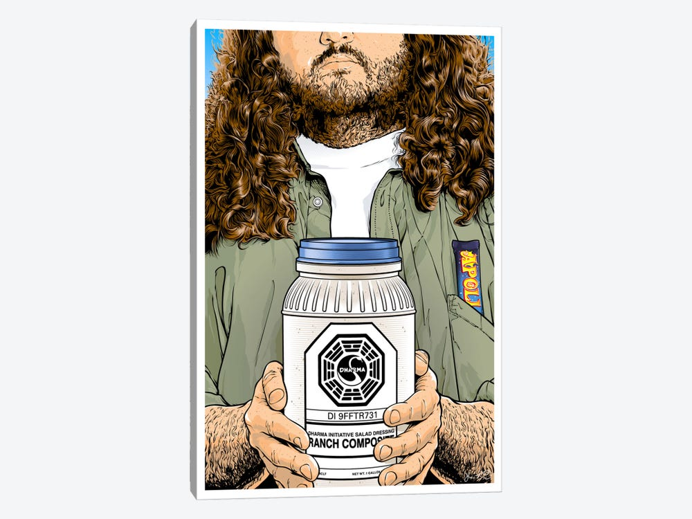 Lost: Hurley by Joshua Budich 1-piece Canvas Art Print