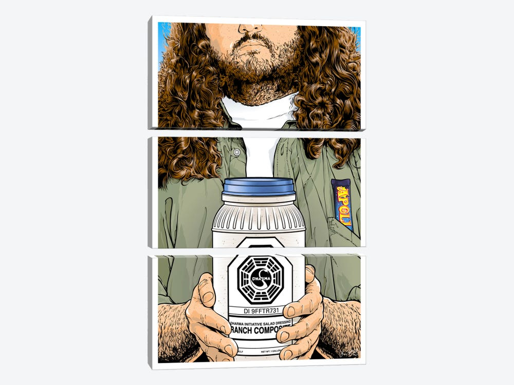Lost: Hurley by Joshua Budich 3-piece Canvas Art Print