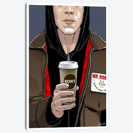 Mr. Robot Canvas Print #JBD79} by Joshua Budich Canvas Wall Art