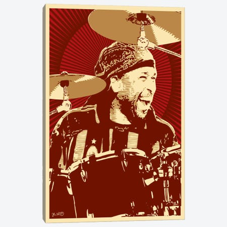 Carter Beauford Canvas Print #JBD7} by Joshua Budich Canvas Artwork