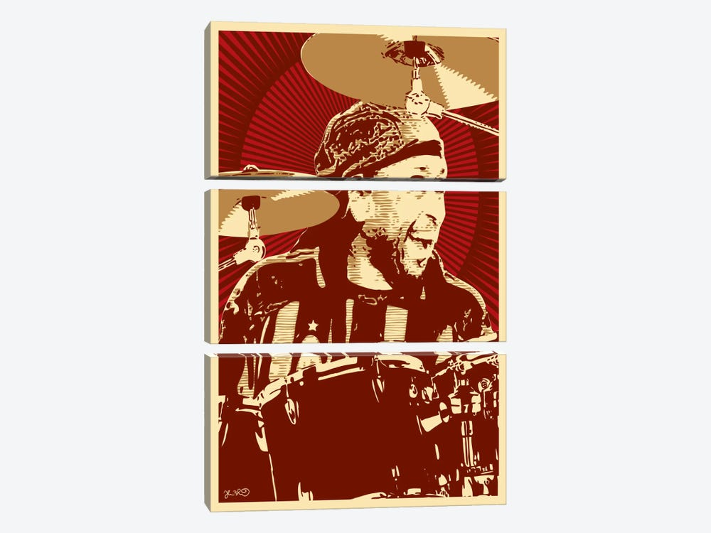 Carter Beauford by Joshua Budich 3-piece Canvas Artwork