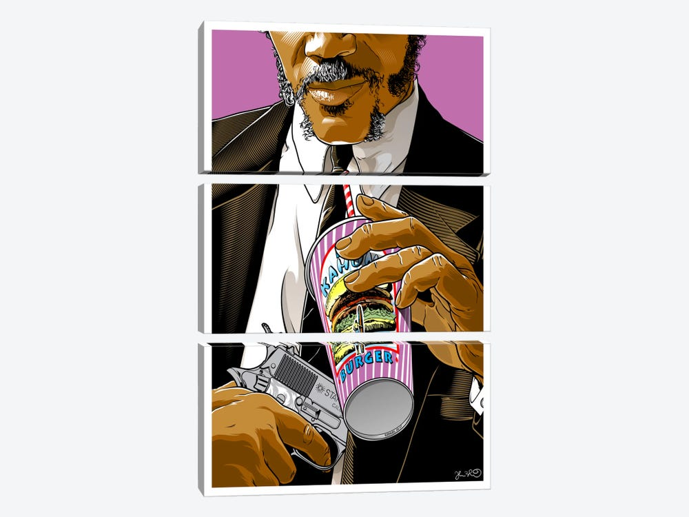 Pulp Fiction: Jules by Joshua Budich 3-piece Canvas Wall Art