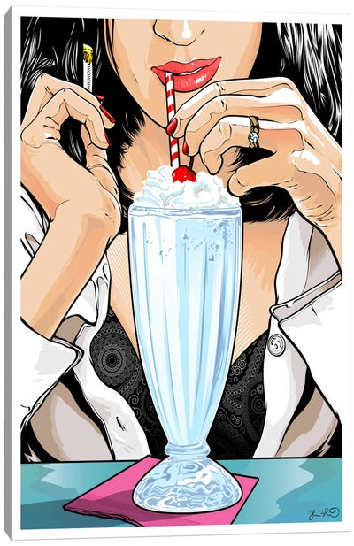 Pulp Fiction: Mia Wallace Canvas Art Print
