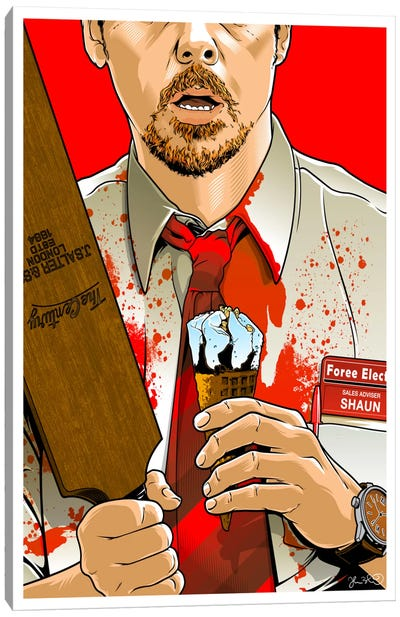 Shaun Of The Dead Canvas Art Print