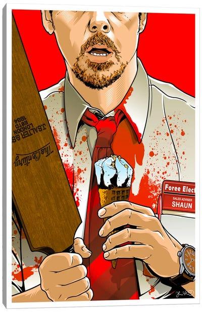 Shaun Of The Dead Canvas Art Print