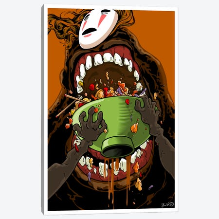 Spirited Away: No Face Canvas Print #JBD83} by Joshua Budich Art Print