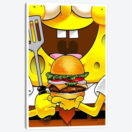 SpongeBob SquarePants Canvas Print #JBD84} by Joshua Budich Canvas Artwork