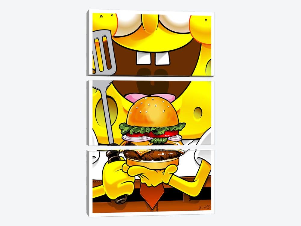 SpongeBob SquarePants by Joshua Budich 3-piece Canvas Artwork
