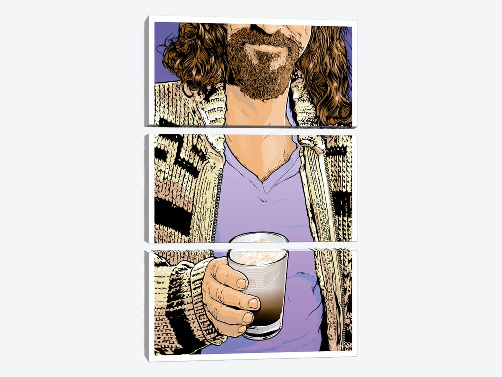 The Dude by Joshua Budich 3-piece Canvas Art Print