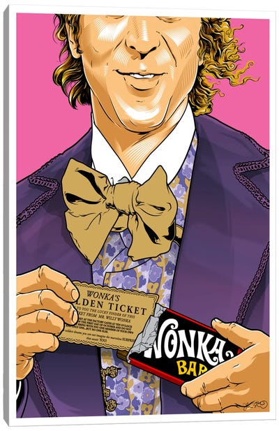 Willy Wonka Canvas Art Print
