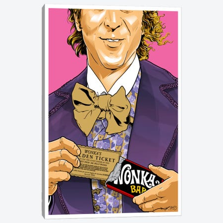 Willy Wonka Canvas Print #JBD86} by Joshua Budich Canvas Art