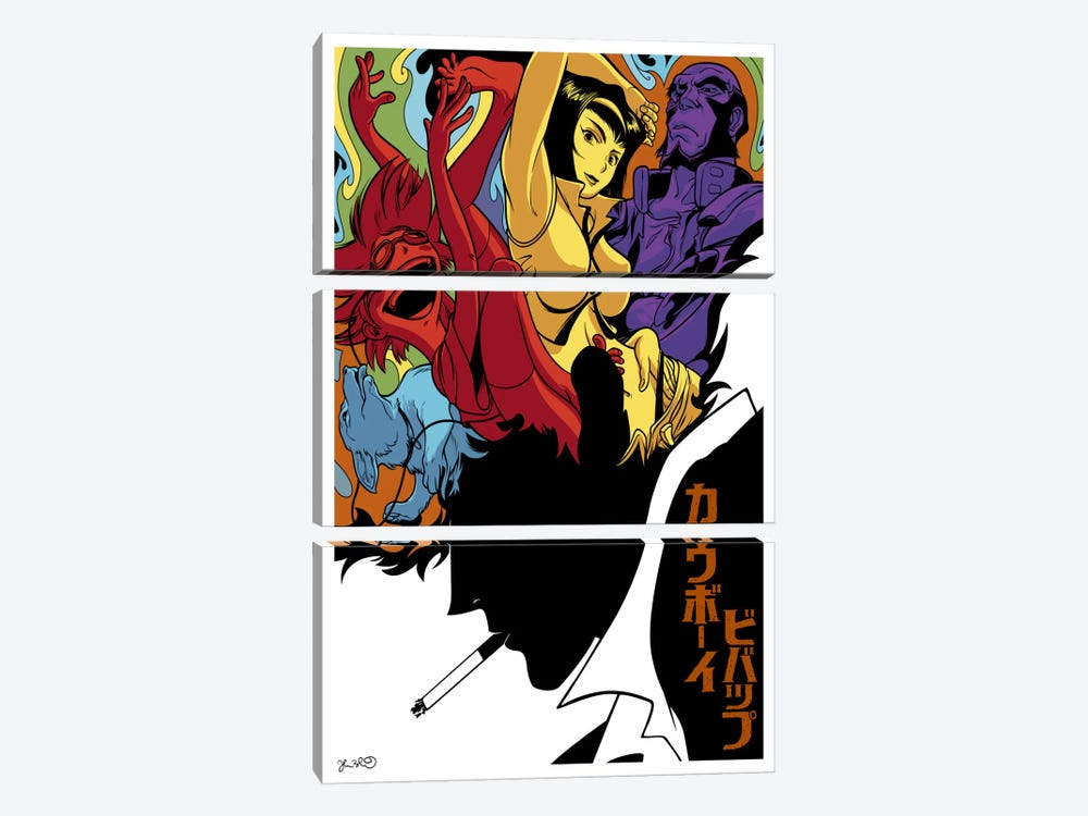 Cowboy Bebop by Joshua Budich 3-piece Canvas Artwork