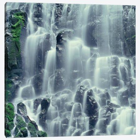 Oregon. Mount Hood NF, Mount Hood Wilderness, Ramona Falls is formed by a small creek Canvas Print #JBG16} by John Barger Canvas Artwork