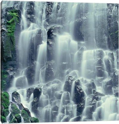 Oregon. Mount Hood NF, Mount Hood Wilderness, Ramona Falls is formed by a small creek Canvas Art Print