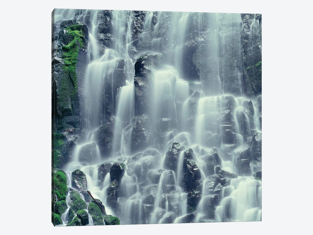 Oregon. Mount Hood NF, Mount Hood Wilderness, Ramona Falls is formed by a small creek by John Barger 1-piece Art Print