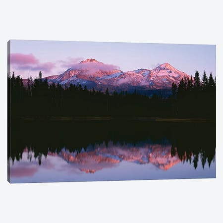 Oregon. Willamette NF, North and Middle Sister, with first snow of autumn Canvas Print #JBG24} by John Barger Canvas Print