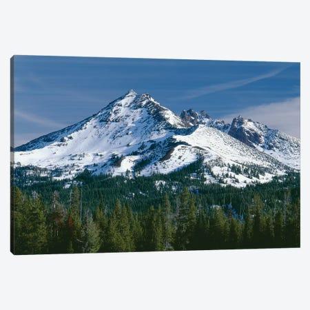 USA, Oregon, Deschutes National Forest. Autumn snow on Broken Top. Canvas Print #JBG26} by John Barger Art Print