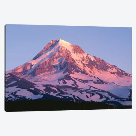 USA, Oregon, Mount Hood National Forest. Sunset light on north side of Mound Hood in early summer. Canvas Print #JBG28} by John Barger Canvas Art