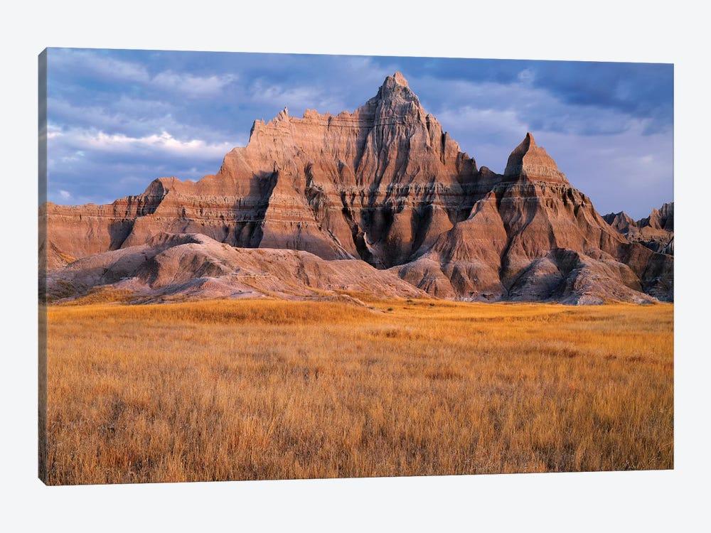 USA, South Dakota, Badlands National Park, Storm clouds over Vampire Peak by John Barger 1-piece Canvas Wall Art