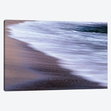 USA, Oregon, Shore Acres State Park. Waves and beach sand. Canvas Print #JBG31} by John Barger Art Print