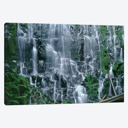 OR, Mount Hood NF. Mount Hood Wilderness, Ramona Falls is formed by a small creek Canvas Print #JBG4} by John Barger Art Print