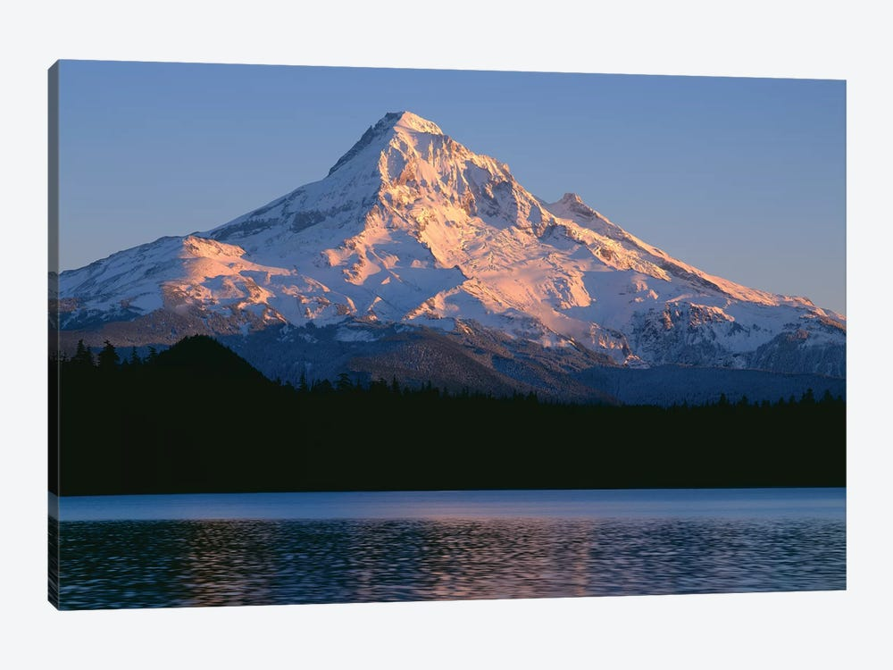 OR, Mount Hood NF. Sunset light on north side of Mount Hood with first snow of autumn by John Barger 1-piece Art Print