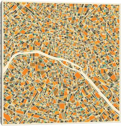 Abstract City Map of Paris Canvas Print #JBL112