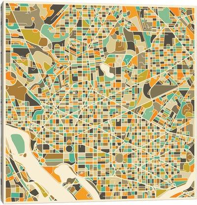 Abstract City Map of Washington Canvas Print #JBL121