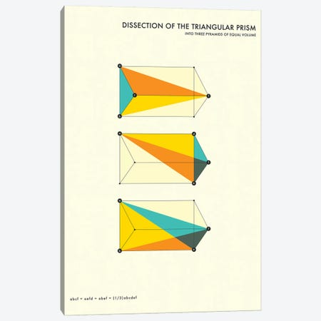 Dissection Of The Triangular Prism Canvas Print #JBL124} by Jazzberry Blue Canvas Print