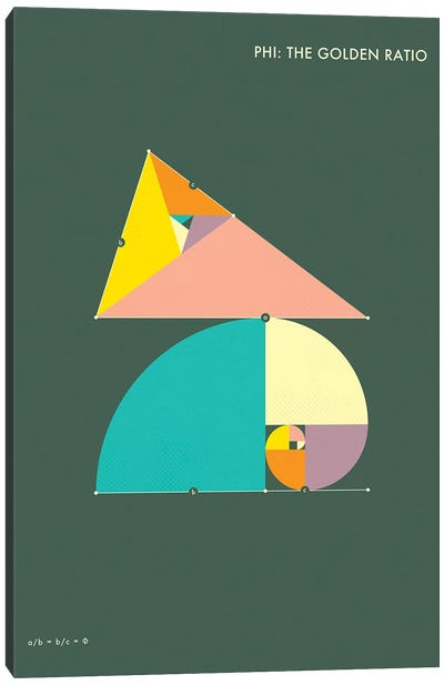 Phi: The Golden Ratio I Canvas Art Print