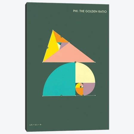 Phi: The Golden Ratio I Canvas Print #JBL125} by Jazzberry Blue Art Print