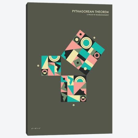 Pythagorean Theorem Proof V Canvas Print #JBL127} by Jazzberry Blue Art Print