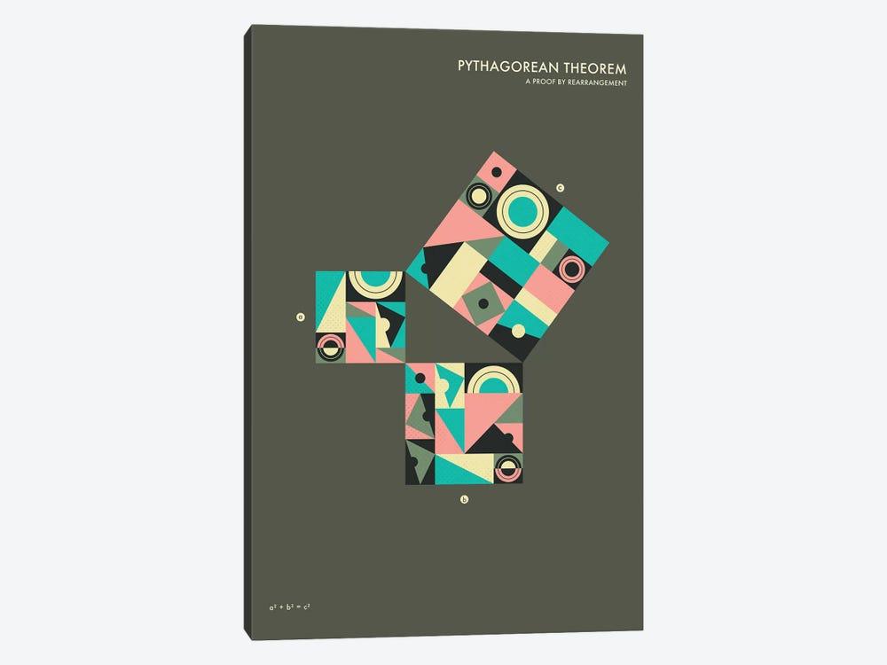 Pythagorean Theorem Proof V by Jazzberry Blue 1-piece Canvas Print