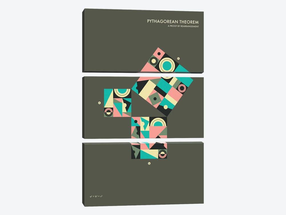 Pythagorean Theorem Proof V by Jazzberry Blue 3-piece Canvas Art Print