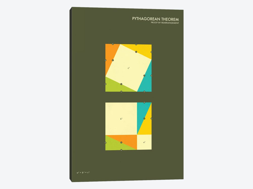 Pythagorean Theorem Proof III by Jazzberry Blue 1-piece Canvas Art