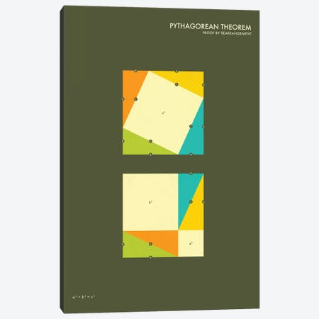 Pythagorean Theorem Proof III Canvas Print #JBL128} by Jazzberry Blue Canvas Artwork