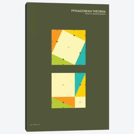 Pythagorean Theorem Proof III Canvas Print #JBL128} by Jazzberry Blue Canvas Artwork