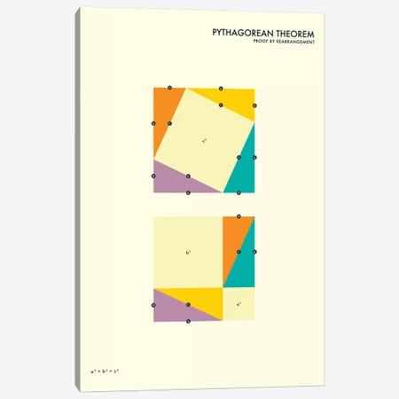 Pythagorean Theorem Proof IV Canvas Print #JBL129} by Jazzberry Blue Canvas Wall Art