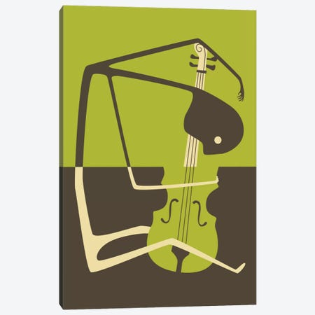 Blues' Cello Canvas Print #JBL12} by Jazzberry Blue Canvas Art