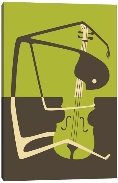 Blues' Cello Canvas Art Print