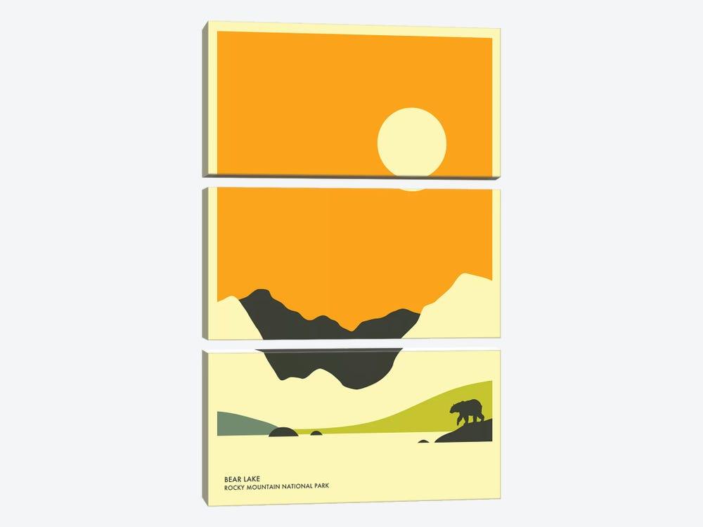 Bear Lake, Rocky Mountain National Park by Jazzberry Blue 3-piece Canvas Print