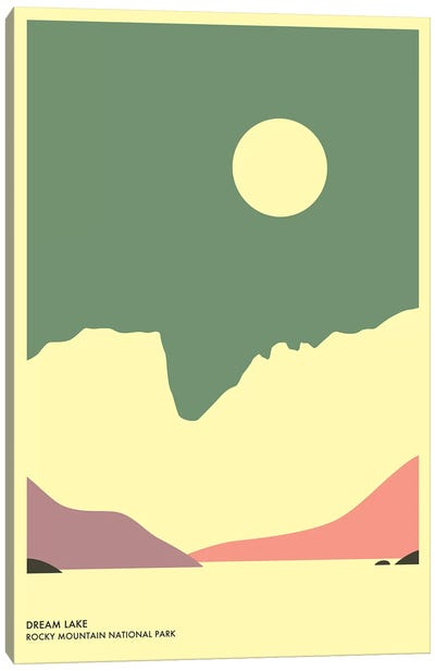 Dream Lake, Rocky Mountain National Park Canvas Print #JBL137