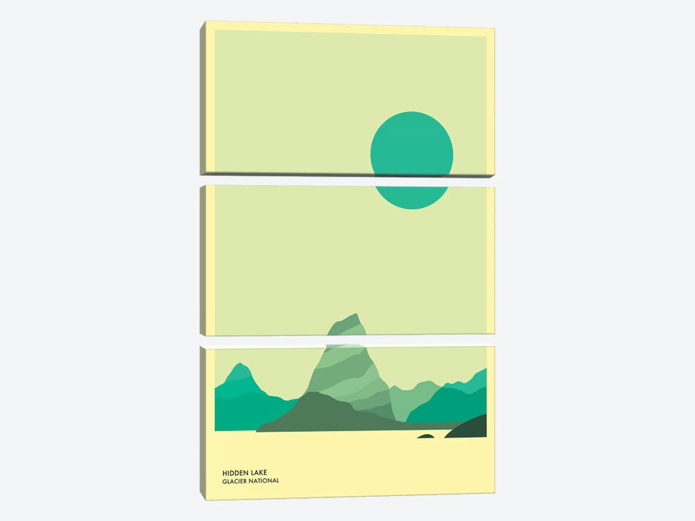 Hidden Lake, Glacier National Park by Jazzberry Blue 3-piece Art Print