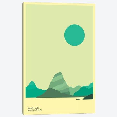 Hidden Lake, Glacier National Park Canvas Print #JBL138} by Jazzberry Blue Canvas Print