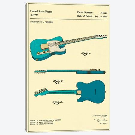 C.L. Fender Guitar Patent Canvas Print #JBL145} by Jazzberry Blue Canvas Art Print