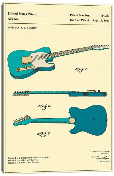 C.L. Fender Guitar Patent Canvas Art Print