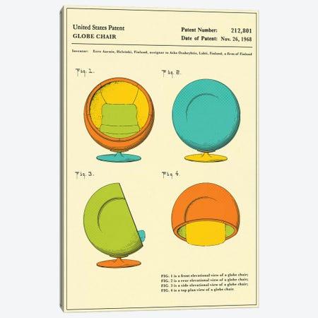 Eero Aarnio (ASKO) Globe Chair Patent Canvas Print #JBL149} by Jazzberry Blue Canvas Artwork