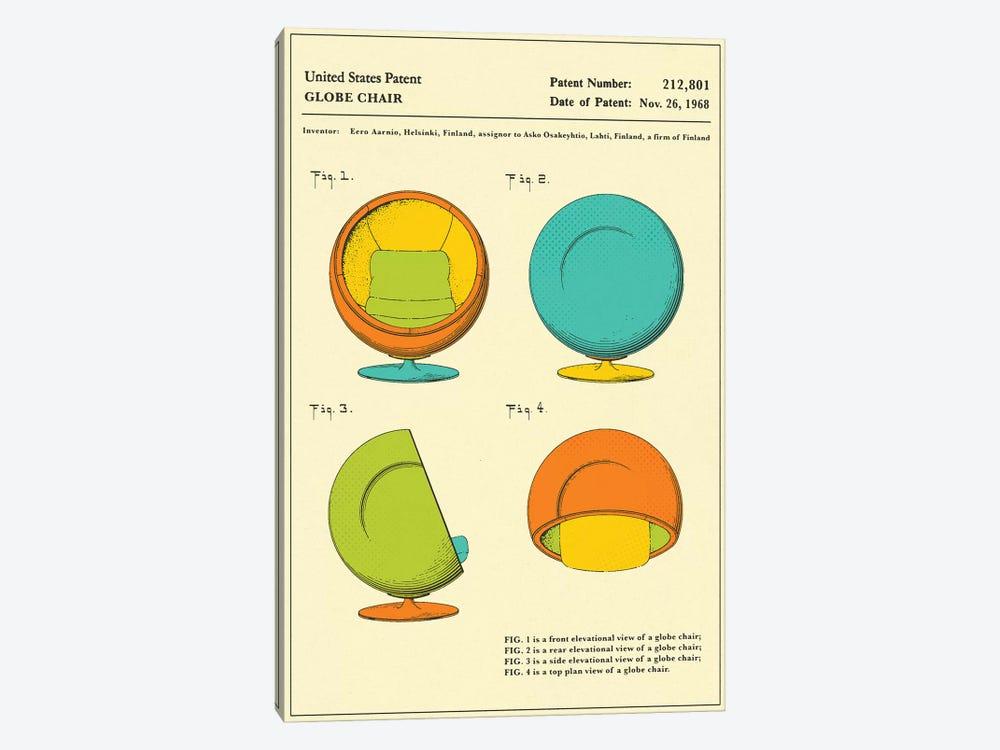 Eero Aarnio (ASKO) Globe Chair Patent by Jazzberry Blue 1-piece Canvas Print